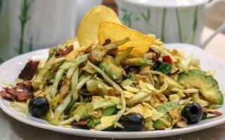 простой рецепт салата с копченой курицей