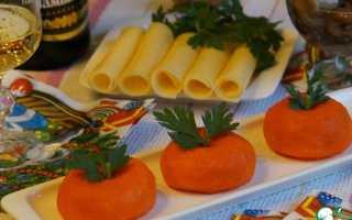 Рецепт сырной закуски мандарин