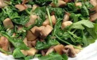 салат с языком свиным и грибами